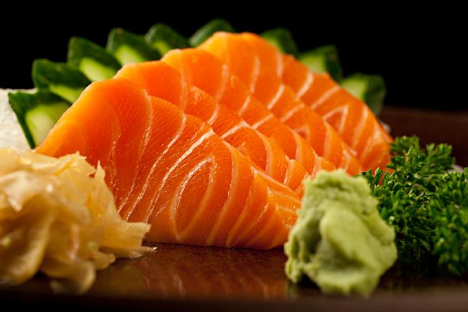 Sashimi de Salmão é rico em proteína e ômega 3