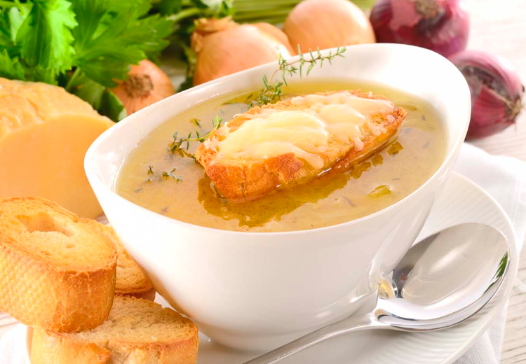 sopa cebola