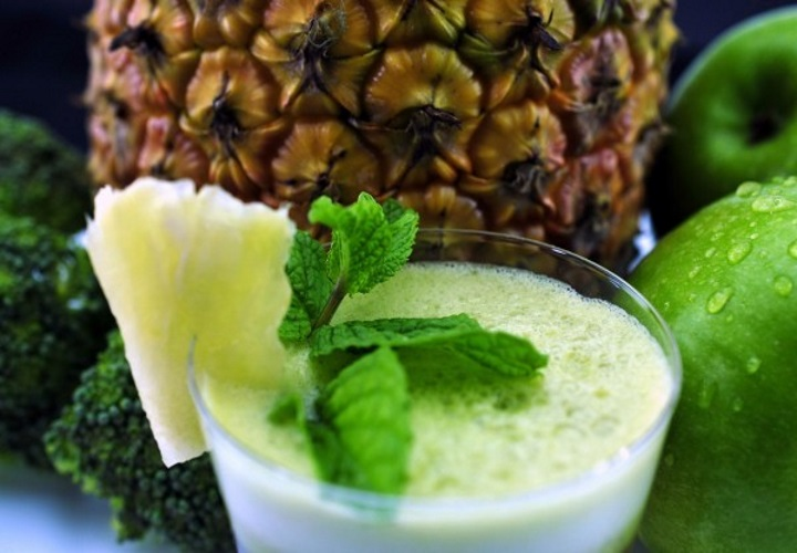 suco limao verde abacaxi de couve para perder e seca barriga